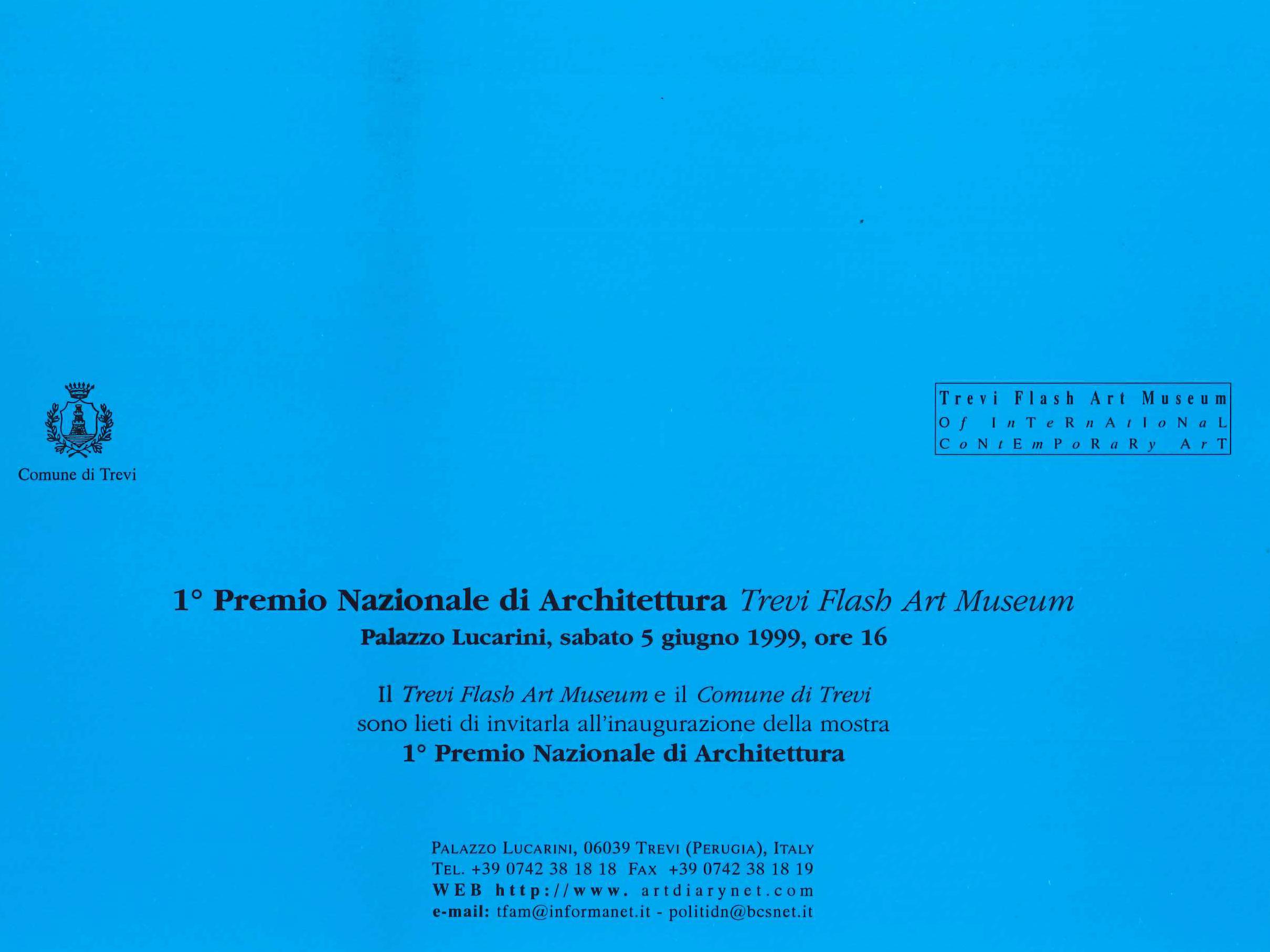 1° Premio Nazionale Trevi Flash Art Museum, 1999